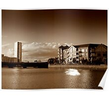 Obel Tower and St George's Wharf, Belfast Poster