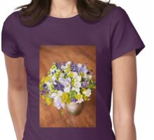 freesia bouquet wedding flowers Womens Fitted T-Shirt