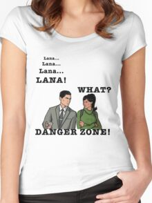 Lana The Danger Zone Women's Fitted Scoop T-Shirt