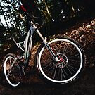 Downhill bike portrait by Maxim Mayorov