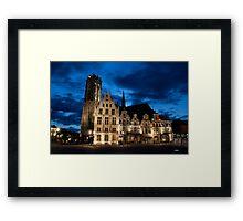 Night european city Framed Print