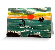 Fun times before the storm, watercolor Greeting Card