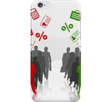 Businessman against businesswoman iPhone Case/Skin