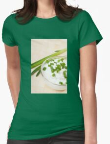 A bowl of cottage cheese Womens Fitted T-Shirt