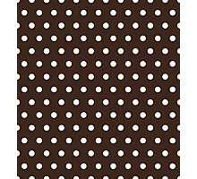 Small White Polka Dots on Chocolate background Photographic Print