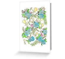 Blue Wild Flowers Greeting Card