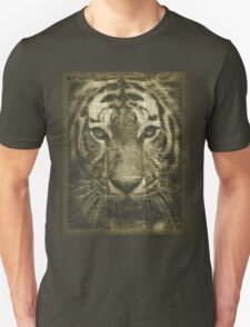 Tiger over Dictionary Page  Unisex T-Shirt