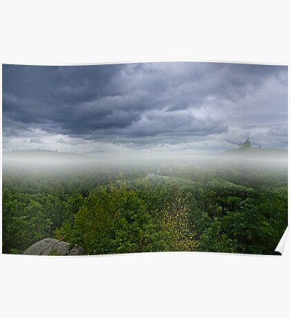 Storm at Lookout Rock  Poster