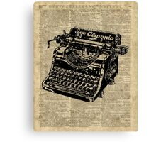 Vintage Typewritter Dictionary Art Canvas Print