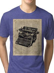 Vintage Typewritter Dictionary Art Tri-blend T-Shirt