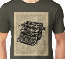 Vintage Typewritter Dictionary Art Unisex T-Shirt