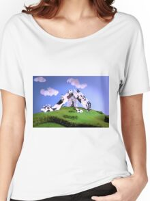Cow Slide Women's Relaxed Fit T-Shirt