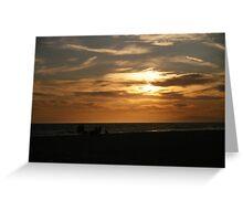 Warm Beach Sunset Greeting Card
