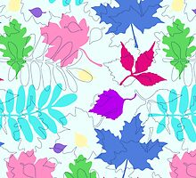 Bold Leaves Pattern by XOOXOO