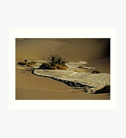 Death Valley Salt Art Print