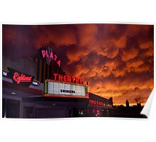 The Plaza Theater/SkyOn Fire Poster