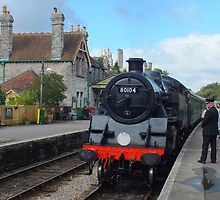 Corfe Castle Railway Station by Yampimon