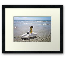 Pirate Jet Ski Framed Print
