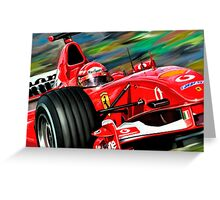 Michael Schumacher Ferrari Greeting Card