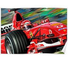 Michael Schumacher Ferrari Poster