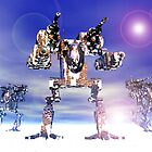 Mech Trianary In Snow Camoflauge by Curtiss Shaffer