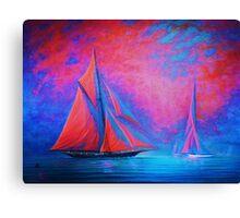 Misty Bay Rendevous Canvas Print