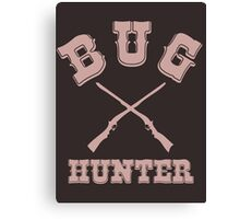 BUG HUNTER - Western Style Design for Test Engineers Skin Font on Brown Canvas Print