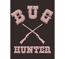BUG HUNTER - Western Style Design for Test Engineers Skin Font on Brown Photographic Print