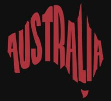 Australia in the shape of Australia T-Shirt