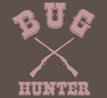 BUG HUNTER - Western Style Design for Test Engineers Skin Font on Brown Baby Tee