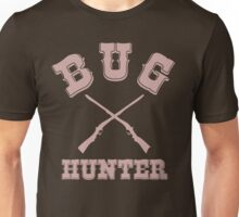BUG HUNTER - Western Style Design for Test Engineers Skin Font on Brown Unisex T-Shirt