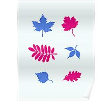 Bold Leaves Pattern Poster