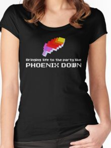 Bringing Life to the Party Like Phoenix Down Women's Fitted Scoop T-Shirt