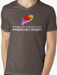 Bringing Life to the Party Like Phoenix Down Mens V-Neck T-Shirt