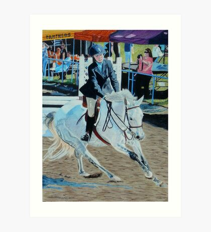 Determination - Young Girl at a Horseshow Art Print