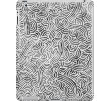 Grey and white swirls doodles iPad Case/Skin
