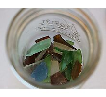 Jar Full of Sea Glass Photographic Print