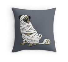 The Mummy Pug Return Throw Pillow