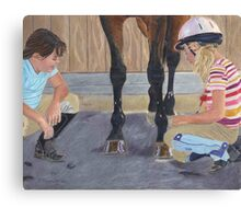New Shoe Review - Children and Horses Canvas Print