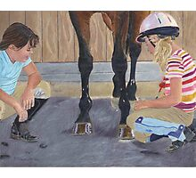 New Shoe Review - Children and Horses Photographic Print