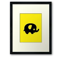 Baby Elephant - yellow Framed Print