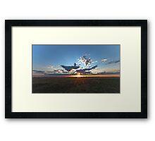Moosecreek sun down - HDR Framed Print