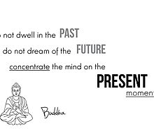 Concentrate on the present moment - Buddha by Razvan Dragomirica