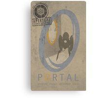 Portal Game Poster Canvas Print