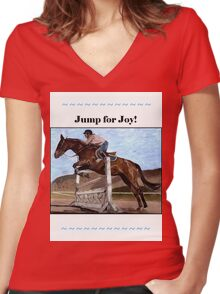 Jump for Joy!  Horse Jumper t-shirt Women's Fitted V-Neck T-Shirt