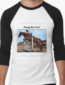 Jump for Joy!  Horse Jumper t-shirt Men's Baseball ¾ T-Shirt