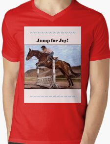 Jump for Joy!  Horse Jumper t-shirt Mens V-Neck T-Shirt