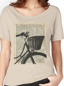 Vintage bicycle Dictionary Art Women's Relaxed Fit T-Shirt