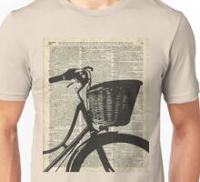Vintage bicycle Dictionary Art Unisex T-Shirt