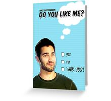 Derek Hale St Valentine's Day Card Greeting Card